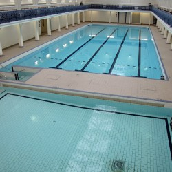 Camberwell Pool, newly refurbished and filled with water