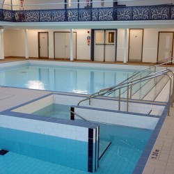 Camberwell Pool, newly refurbished showing new entry steps and learner pool